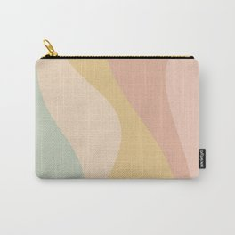 Abstract Color Waves - Neutral Pastel Carry-All Pouch