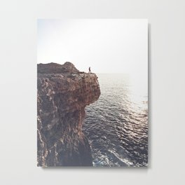 Tiny Humans Big World | Aerial Metal Print