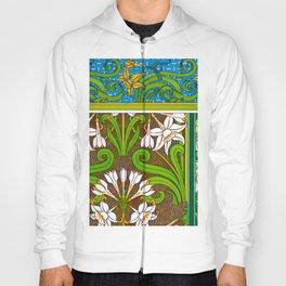 Jonquil Art Nouveau Flower Tiles Hoody