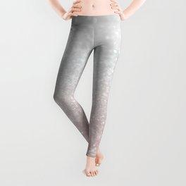 Blush Gray Princess Glitter #1 (Faux Glitter - Photography) #shiny #decor #art #society6 Leggings