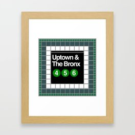 subway bronx sign Framed Art Print