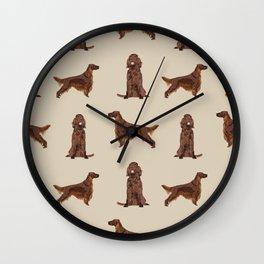 Irish Setter dog breed pet pattern gifts for irish setters Wall Clock