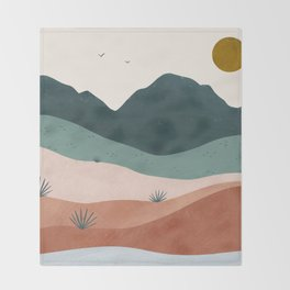 terra serena Throw Blanket