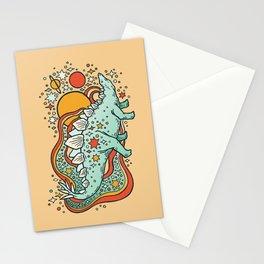 Star Stego | Retro Reptile Palette Stationery Cards