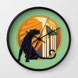 Jaguar Plain Art Deco Wall Clock