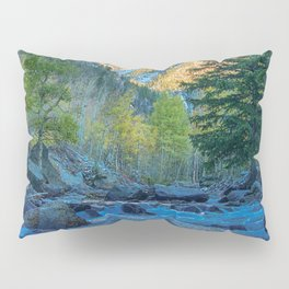 River Bed Sunrise // Long Exposure Landscape Photograph in the Colorado Rocky Mountains Pillow Sham