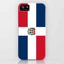Flag of the dominican republic iPhone Case