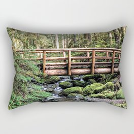 Wanderlust Beauty // Take Me to the Forest Where the Peaceful Waters Flow in the Dense Woods Rectangular Pillow