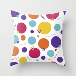 Dotted in the 80s Throw Pillow