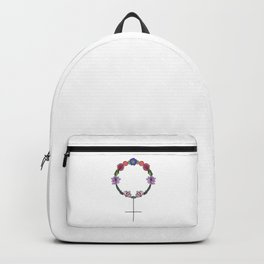 Floral Feminist Symbol.   Backpack