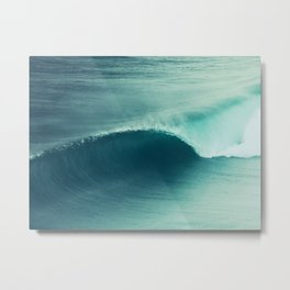 Perfect Wave Metal Print