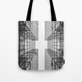 Black and White Skyscraper Tote Bag
