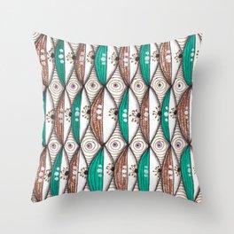 Colorful Geometric Zendoodles Throw Pillow