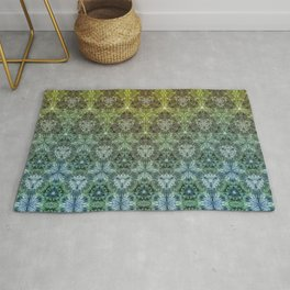 Forest Lake. sacred geometry. seamless pattern Rug