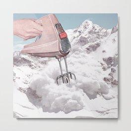 Doris Whisker II - Avalanche whipped cream Metal Print