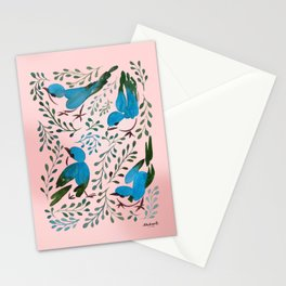 Birds in Spring Stationery Cards