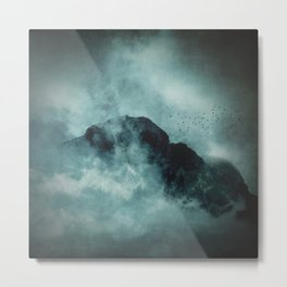 On the top of the world - Mountains Dust Metal Print