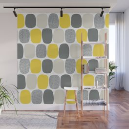 Wonky Ovals in Yellow Wall Mural