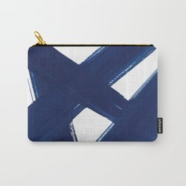 Indigo Abstract Brush Strokes   No. 3 Carry-All Pouch