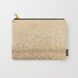 Beautiful champagne gold glitter sparkles Carry-All Pouch