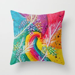 Leaves on the World Tree: Catalan Pine Throw Pillow