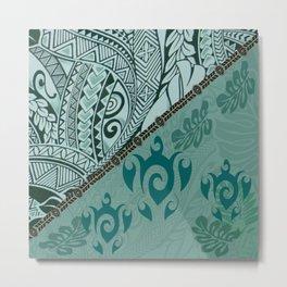 Hawaiian Tapa Cloth - Traditional Print Metal Print