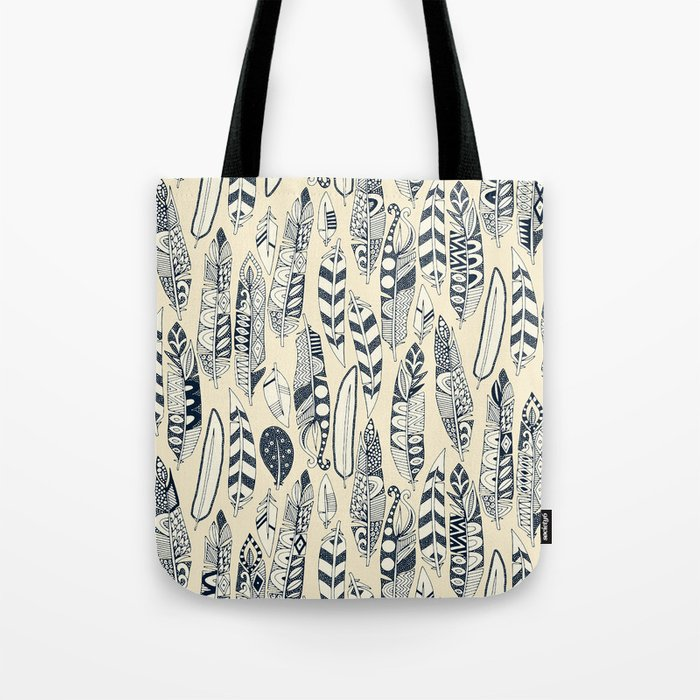 joyful feathers cream Tote Bag