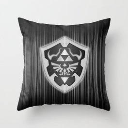 Zelda Black Shield Throw Pillow