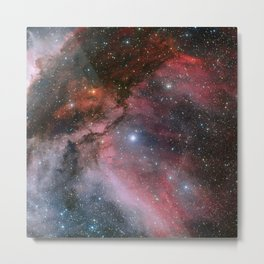 The Carina Nebula, Wolf–Rayet star WR 22 Metal Print
