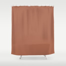 Sherwin Williams Color of the Year 2019 Cavern Clay SW 7701 Solid Color Shower Curtain