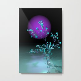 turquoise and violet Metal Print