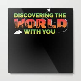 Discovering The World With You Metal Print