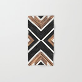 Urban Tribal Pattern No.1 - Concrete and Wood Hand & Bath Towel