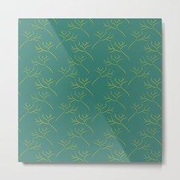 Organic tree delicate vector pattern Metal Print