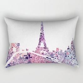 Paris Skyline + Map #1 Rectangular Pillow