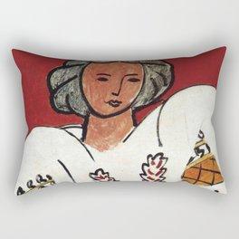 Henri Matisse - The Romanian Blouse - Exhibition Poster Rectangular Pillow