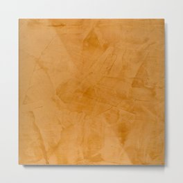 Dante Orange Stucco - Luxury - Rustic - Faux Finishes - Corbin Henry Venetian Plaster Metal Print