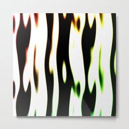 Streaks of twisted burning light Metal Print
