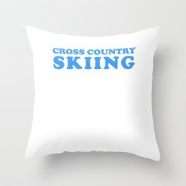 Sport Health Spirit Success Skiing Sports Gift Throw Pillow
