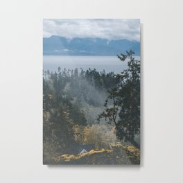 Cozy Forest House Metal Print