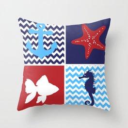 Nautical medley Throw Pillow