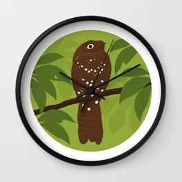 Rufous Potoo Wall Clock