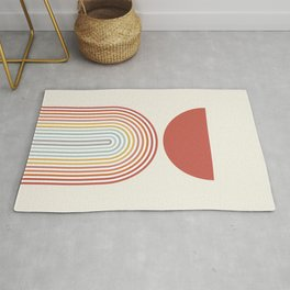 Minimalist lines and shapes no1 Rug