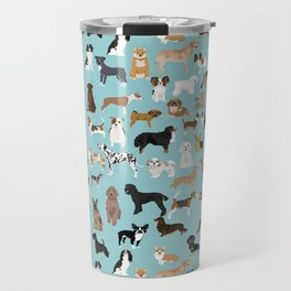 Dogs pattern print must have gifts for dog person mint dog breeds Travel Mug