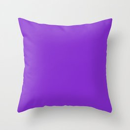 Solid Dark Purple Violet Color Throw Pillow