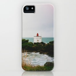 Film photo of the lighthouse at Bluff, NZ iPhone Case