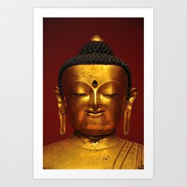 Golden Buddha for Peacefulness Art Print