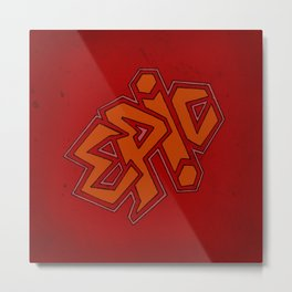 EPiC on red Metal Print