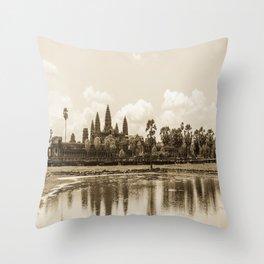 Angkor Wat, Cambodia Throw Pillow
