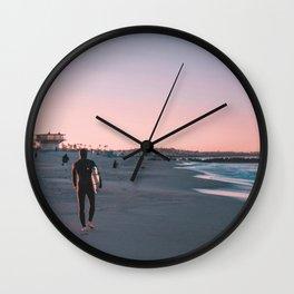 California Surfer Beach Life Wall Clock